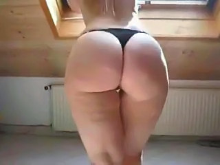 Sexy Blonde in High Heels Shows Off Her Chubby Ass