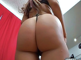 MILF bitch in tiny thongs nailed doggystyle