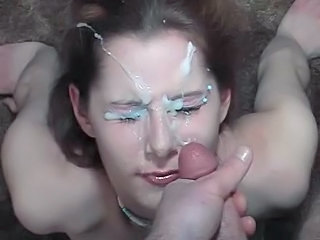 Amateur Brunette Facial Teen