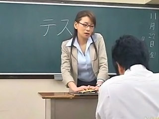 Japanese Teacher masturbated from Slave