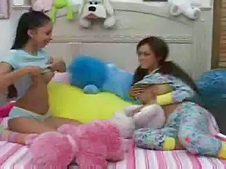 Hot Teens give babysitter a...