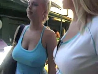 Amateur Big Tits Blonde Outdoor