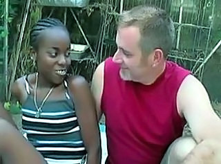 Cute Ebony Interracial Teen