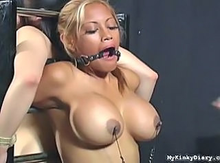 Bigtits Asian tortured on My Kinky Diary