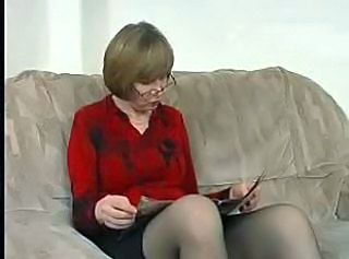 Glasses Mature Stockings