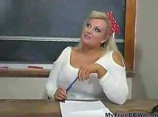 Amazing Blonde Chubby Cute MILF School Teacher