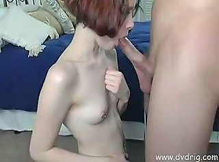 Amateur Slut With Pierced Nipples Sucks Cock And Fills Her pussy with cock