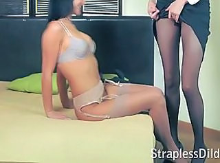 Lesbian Lingerie Pantyhose Skinny Stockings
