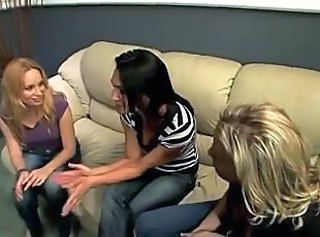 Hot mom lesbian threesome