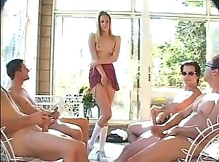 Angel Long Babysits four guys _: double penetration gangbang pornstars
