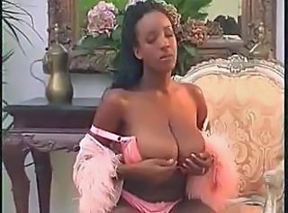 Big Tits Ebony Lingerie Natural