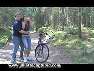 Handcuffed Force Blowjob Outdoors