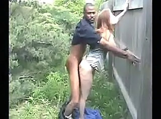 Clothed Doggystyle Interracial Outdoor Public Wife