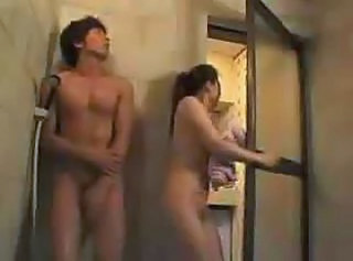 Asian Bus Showers Wife
