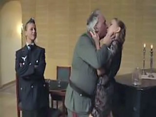 Army Kissing Old and Young Uniform