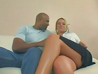 Amazing Blonde Interracial MILF