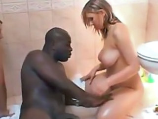 Busty white sluts servicing a well hung black dude