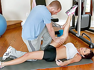 Hunter and Scott have this thing where they train together about once a week and believe it or not, they never had sex during these sessions... Scott's been wanting to fuck her hard for a while and the fact that we have cameras in there might help this ti