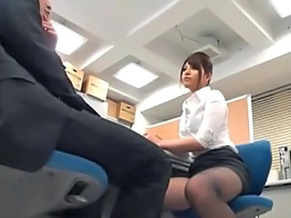Hot Asian Office Sex With A Hairy Pussy And A Hard Cock