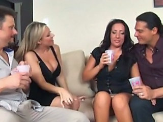 Amazing Foursome With Two Horny Cougars