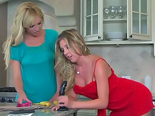 Hot Blonde Lesbians Samantha Saint and Victoria White Playing Together