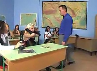 Sex lesson as punishment for lazy schoolgirls.