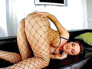 Ass Babe Cute Fishnet Lingerie