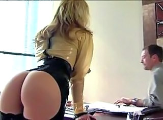 Ass Blonde Latex MILF Office Pornstar Secretary