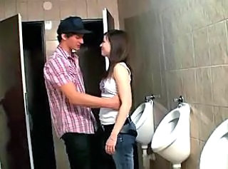 Amateur Brunette Cute Small Tits Teen Toilet