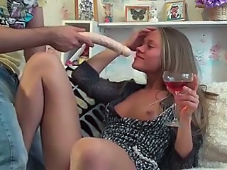 Blonde Hottie Gets A Bit Of Alcohol In Her System And Is Ready For A Hard Fuck