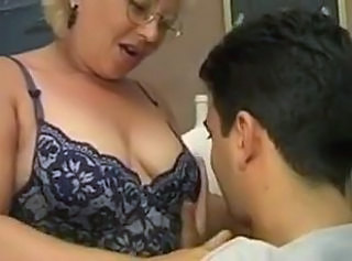 His tutor is a hot mature whore that loves cock _: grannies matures old + young