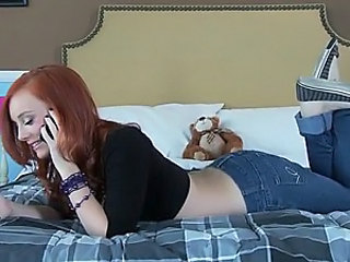 Exquisite Redhead Teen Dani Jensen Gives Blowjob and Gets Fucked