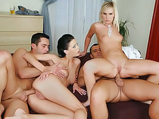 Amazing diversity of fuck was shot down here. These blond and brunette girls use all their potential, to make really attractive and excited video shoots. If you prefer brunettes more, then it will fit your interests. Two hard dicks fuck pussy and ass of a