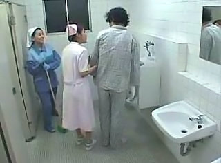 Amateur Asian Nurse Threesome Toilet Uniform