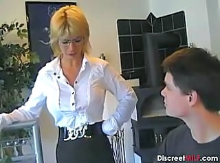 Big Tits Blonde German Glasses MILF Pornstar Skirt Teacher