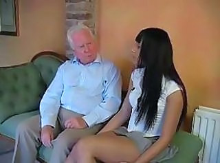 Brunette Cute Old and Young Skirt