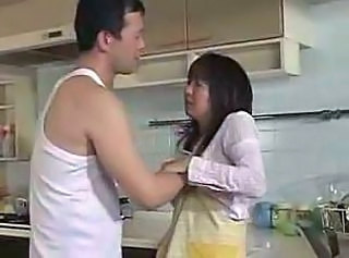 Amateur Asian Kitchen Wife Young