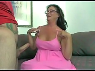 Big Tits Blowjob Brunette Glasses Mature