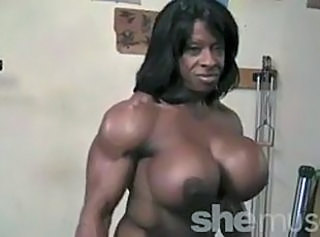 Big Tits Ebony MILF Muscled