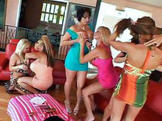 Band of mothers having naughty fun