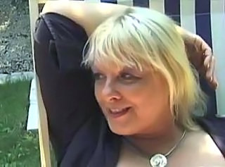 Amateur Blonde French Mature Outdoor