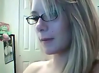 Blonde Glasses Webcam