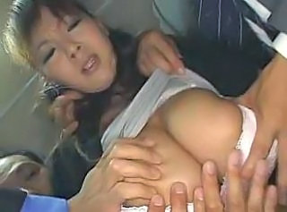 Asian Big Tits Bus Japanese MILF Public