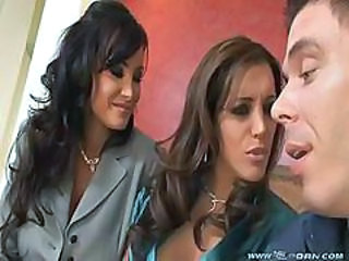 Francesca Le Lisa Ann Two Hot Milfs Takes Care Of One Guy