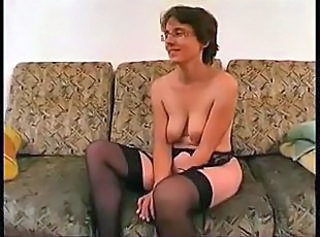 Amateur French Glasses Mature SaggyTits Stockings