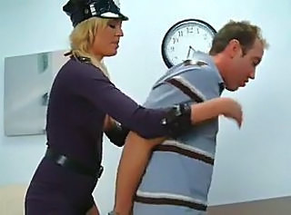Sexy Blonde Cop Victoria White Fucks Traffic Violator