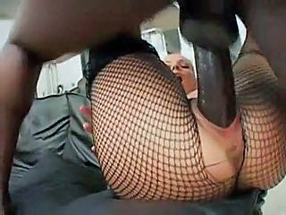 Grosse bite Résille Hardcore Interracial Collants