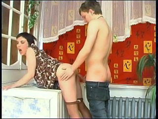 Brunette Cute Doggystyle MILF Pantyhose Russian