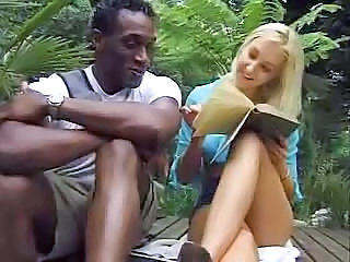 Blonde Babe Feels A Thick Black Dong