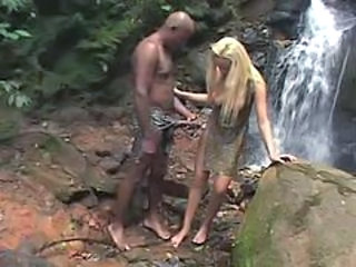 Big Tits Blonde Interracial Outdoor Pornstar